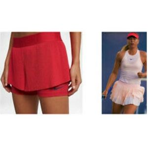 NEW Nike Maria pleated tennis Skirt Shorts RED